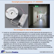 3-2 downlight de emergencia